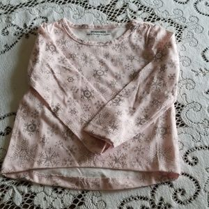 Pink with snow flake shirt